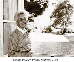 Photograph of Cathie Poirier-Prous, Poitiers, 1985